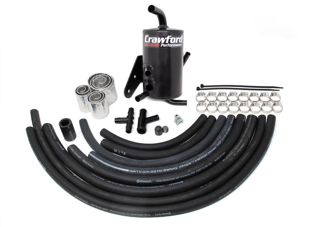 Crawford TMIC v2 Performance Air Oil Separator (Black) - Subaru STI VA - Kaiju Motorsports