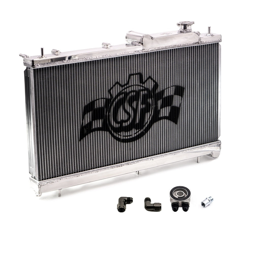 CSF Racing Radiator w/ Built-in Oil Cooler - Subaru STI VA - Kaiju Motorsports