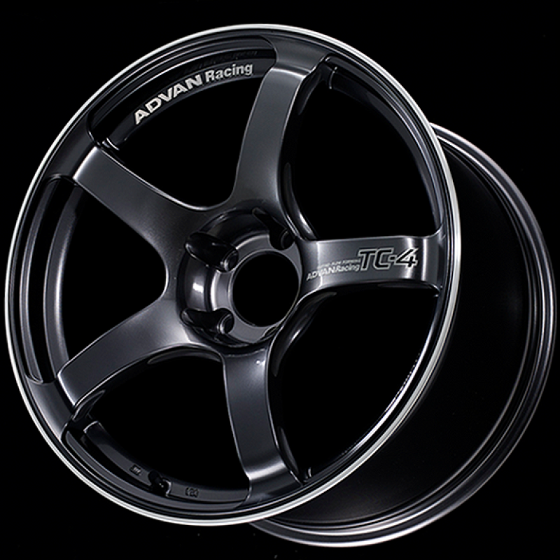 Advan TC4 18x9.5 +12 114.3 Racing Gunmetallic & Ring Wheel - Kaiju Motorsports