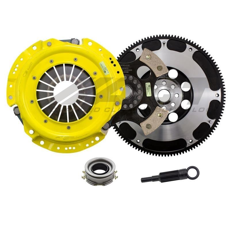 ACT Heavy Duty Solid 4-Puck Disc Clutch Kit w/ Flywheel - FRS/BRZ/86 - Kaiju Motorsports