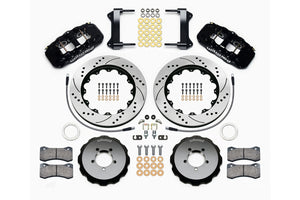 Wilwood W6A Slotted / Drilled Big Brake (Black) - Subaru STI VA - Kaiju Motorsports