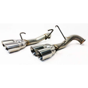 ETS Axle Back Exhaust System No Muffler Polished Tips - Subaru WRX / STI VA - Kaiju Motorsports