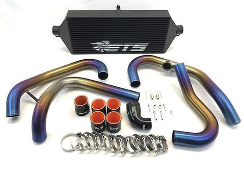 ETS Titanium Front Mount Intercooler Piping Kit (Burned) - Subaru STI VA - Kaiju Motorsports