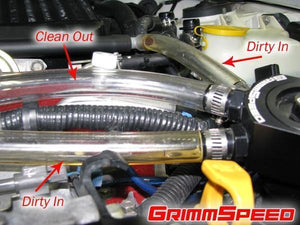 Grimmspeed Air Oil Separator (Red) - Subaru STI VA - Kaiju Motorsports