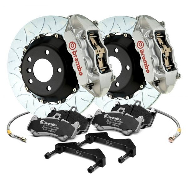 Brembo GT Systems 4 Piston Big Brake Kit Silver Slotted Rotors (Front) - Subaru WRX VA - Kaiju Motorsports