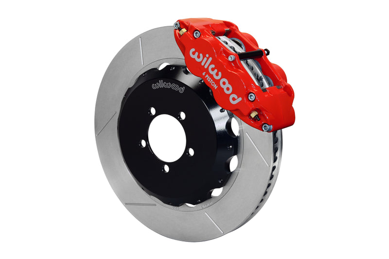 Wilwood FNSL6R 14in Front Slotted Big Brake Kit (Red) - Subaru STI VA - Kaiju Motorsports