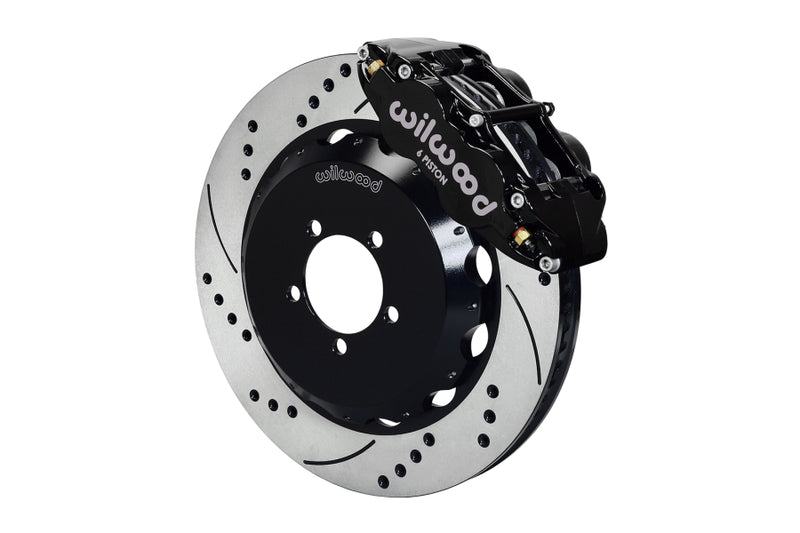 Wilwood FNSL6R Front Drilled / Slotted Big Brake Kit (Black) - Subaru STI VA - Kaiju Motorsports