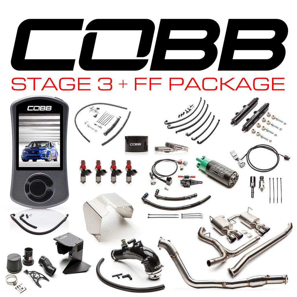 Cobb Tuning Subaru Stage 3 + Flex Fuel Power Package Titanium STI - Subaru STI VA - Kaiju Motorsports