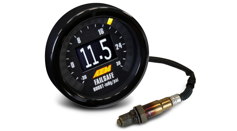 AEM UEGO Wideband Failsafe Wideband AFR/Boost Gauge - 52mm - Kaiju Motorsports