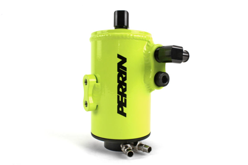 Perrin Air Oil Separator (Neon Yellow) - Subaru STI VA