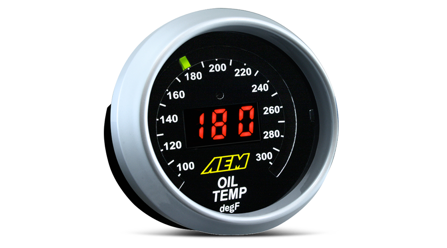 AEM Oil Temperature Digital Display Gauge (52mm) - Universal - Kaiju Motorsports