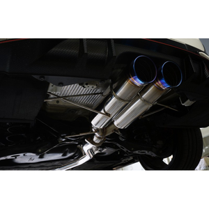J's Racing SUS Exhaust Dual 70RS Plus (Street Legal) - Honda Civic Type-R FK8 - Kaiju Motorsports