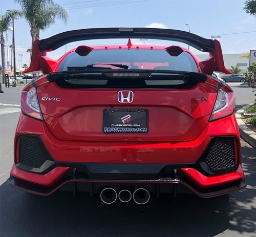 Password:JDM Dry Red Carbon Fiber Gurney Flap - Honda Civic Type-R FK8 - Kaiju Motorsports