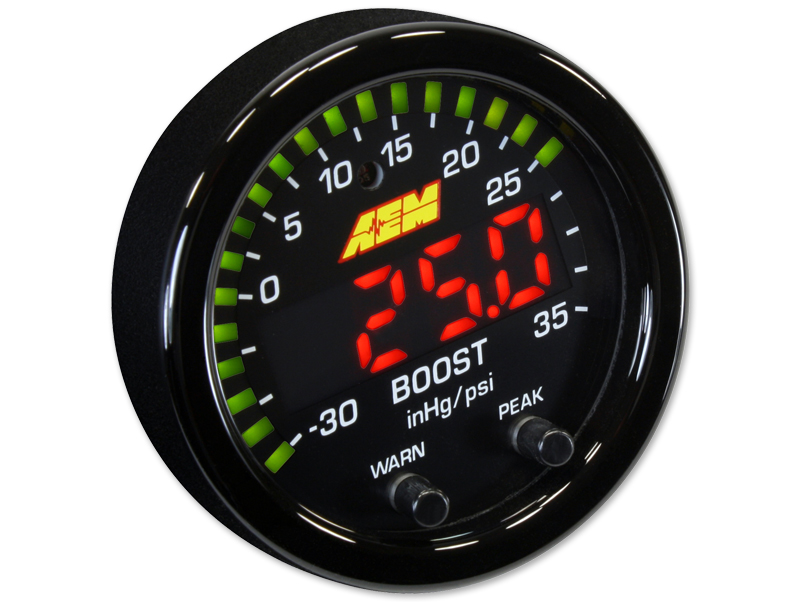 AEM X-Series Boost Pressure Gauge (35 PSI) - 52mm