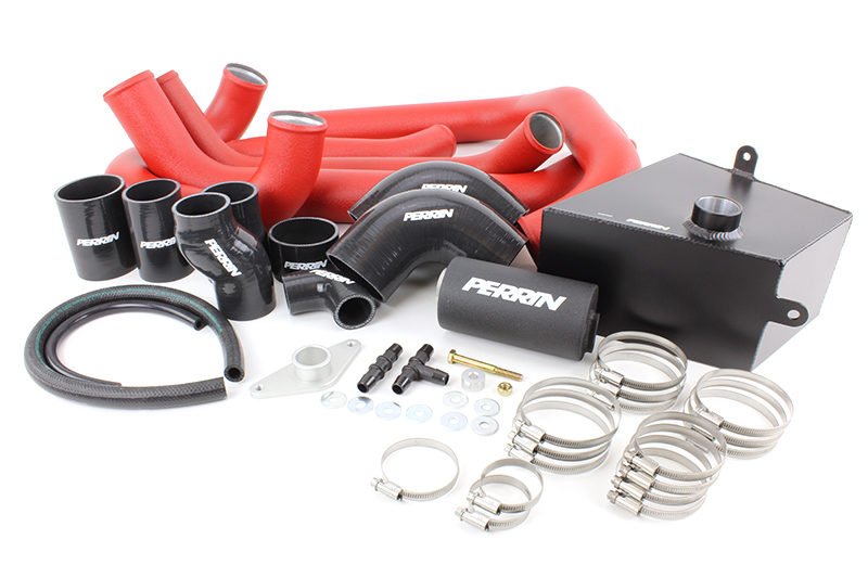 Perrin Boost Tube Kit (Red)- Subaru STI VA