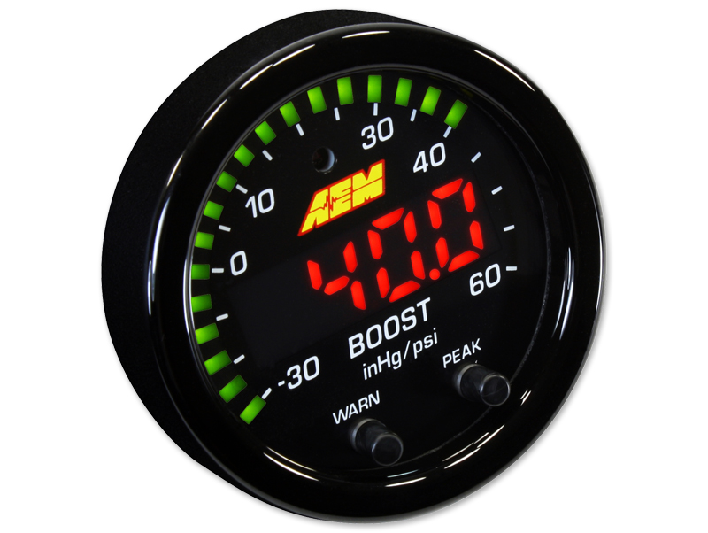 AEM X-Series Boost Pressure Gauge (60 PSI) - 52mm