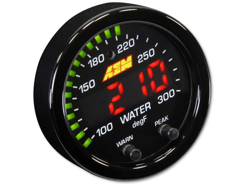 AEM X-Series Temperature Gauge (52mm) - Universal - Kaiju Motorsports