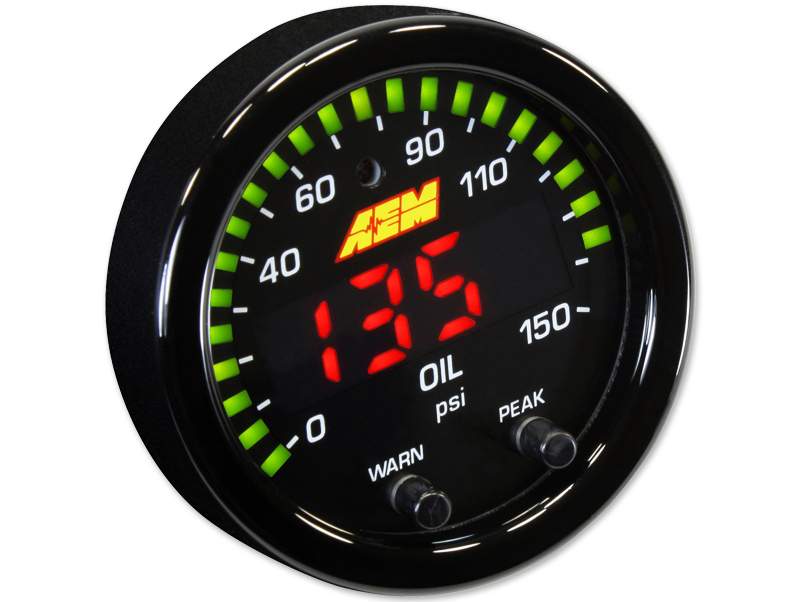 AEM X-Series Oil Pressure Gauge (0-150 PSI) - 52mm