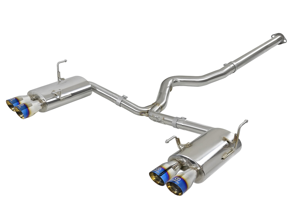 aFe Takeda 3in SS Exhaust Cat Back (Blue Flame Tip) - Subaru WRX / STI VA