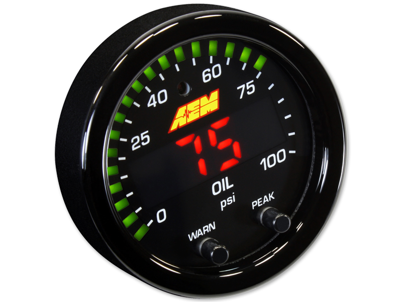 AEM X-Series Oil Pressure Gauge (0-100 PSI) - 52mm