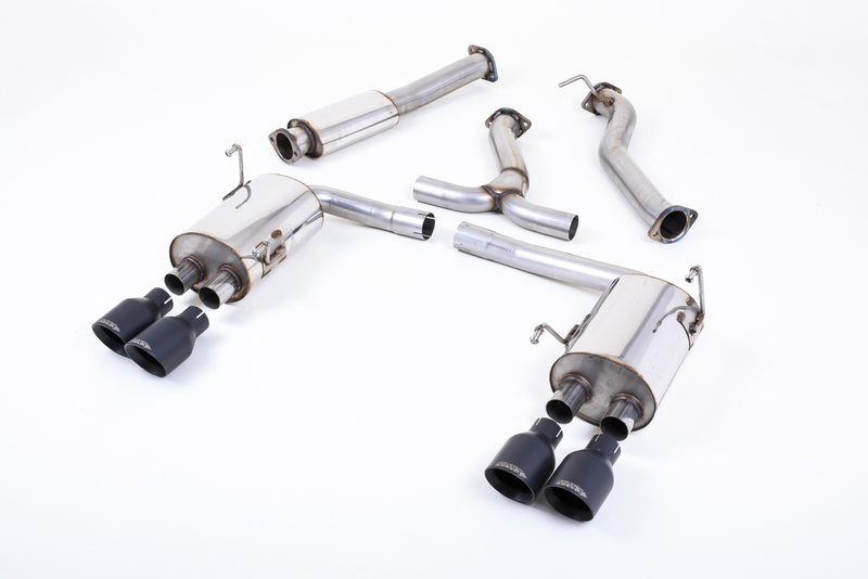 Milltek Catback Exhaust 3in (Cerakote Black Tips) - Subaru WRX / STI VA