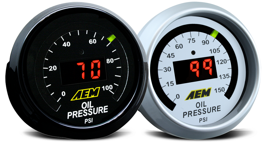 AEM Oil Pressure Digital Gauge - 52mm