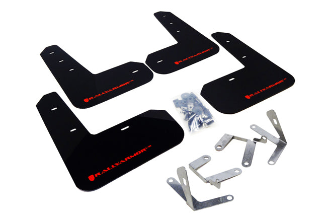 Rally Armor Black Mud Flap W/ Red Logo - FRS/BRZ/86