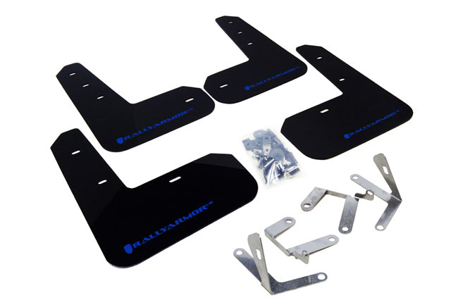 Rally Armor Black Mud Flap W/ Blue Logo - FRS/BRZ/86