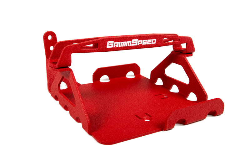 Grimmspeed Lightweight Battery Mount (Red) - Subaru WRX / STI VA - Kaiju Motorsports