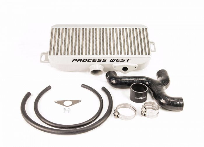 Process West Top Mount Intercooler (Silver) - Subaru STI VA - Kaiju Motorsports
