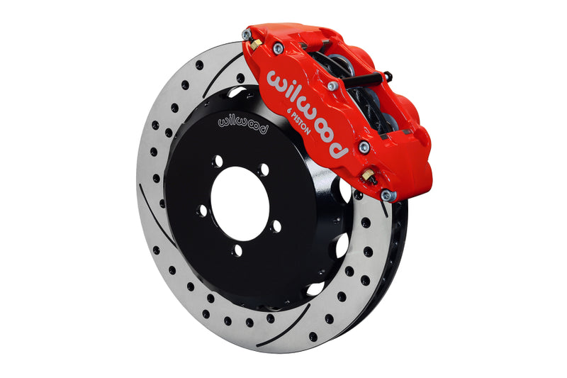 Wilwood FNSL6R 13.06in Front Slotted / Drilled Big Brake Kit (Red) - Subaru STI VA - Kaiju Motorsports