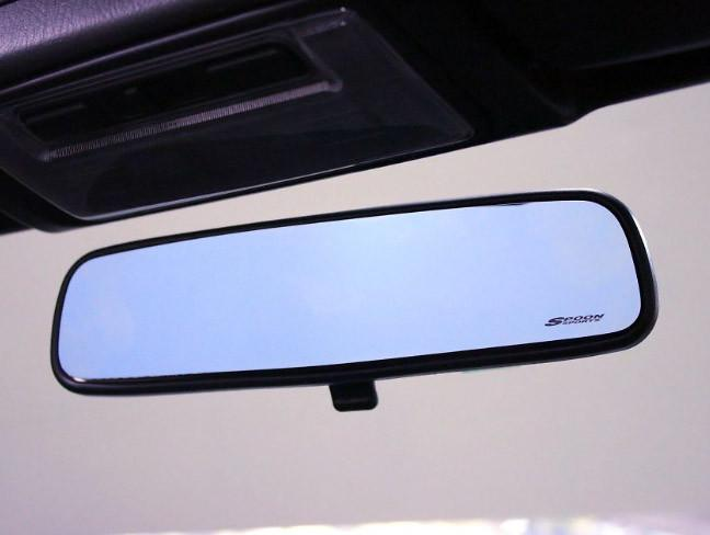 Spoon Blue Wide Rear View Mirror - Honda Civic Type-R FK8 - Kaiju Motorsports