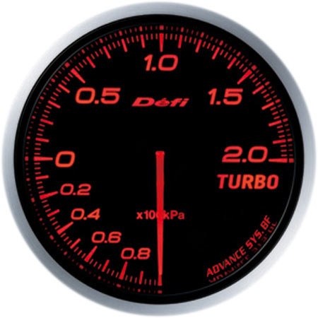 Defi Advance BF Red 2 Bar Boost Gauge (Metric)(60mm) - Universal - Kaiju Motorsports