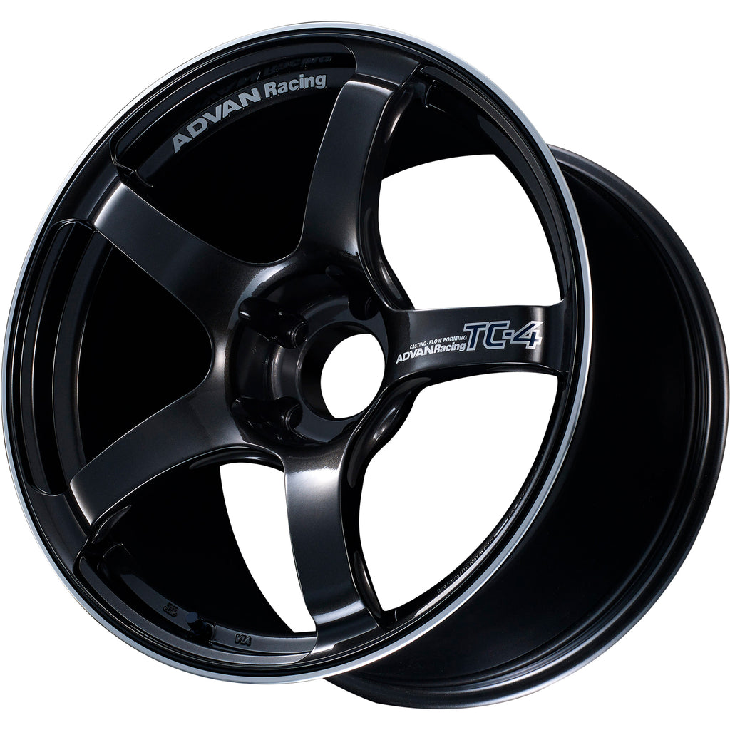 Advan TC4 18x9.5 +45 5x100 Black Gun Metallic - Kaiju Motorsports