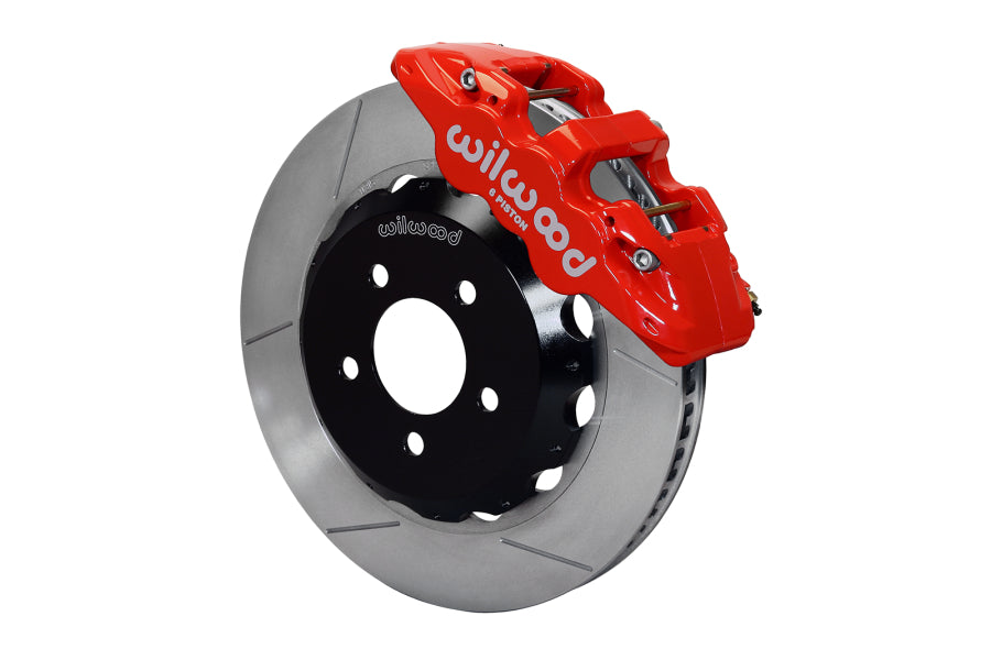 Wilwood W6A Front Slotted Brake Kit (Red) - Subaru STI VA - Kaiju Motorsports