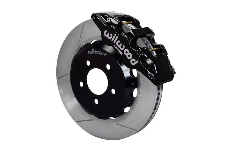 Wilwood W6A Front Slotted Big Brake Kit (Black) - Subaru STI VA - Kaiju Motorsports