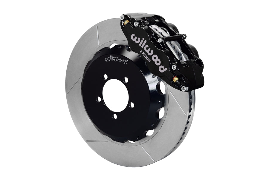 Wilwood FNSL6R 14in Front Slotted Big Brake Kit (Black) - Subaru STI VA - Kaiju Motorsports