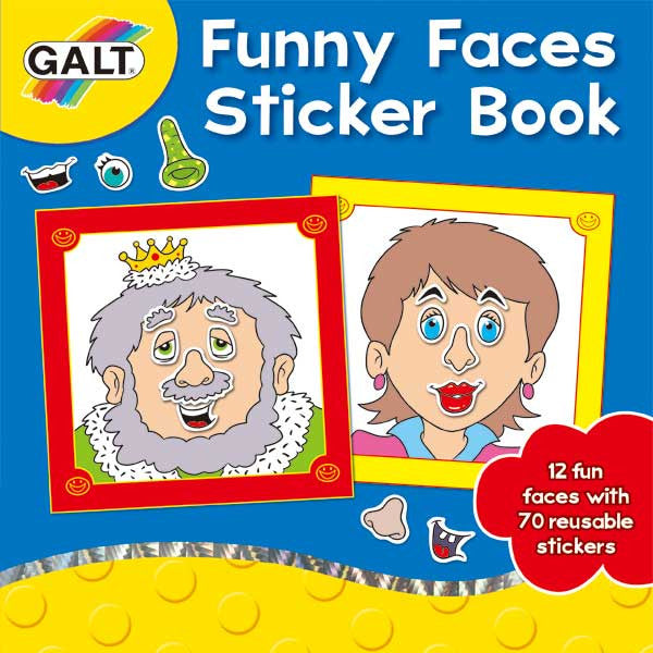 Funny Faces Sticker Book *