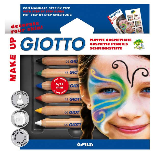 Giotto Make-up Ansiktsfargestifter 6 farger