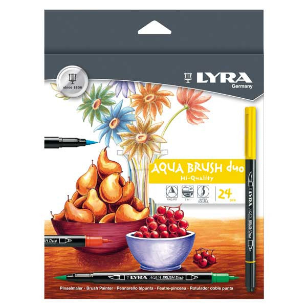Lyra Art Aqua Brush DOU 24 PK