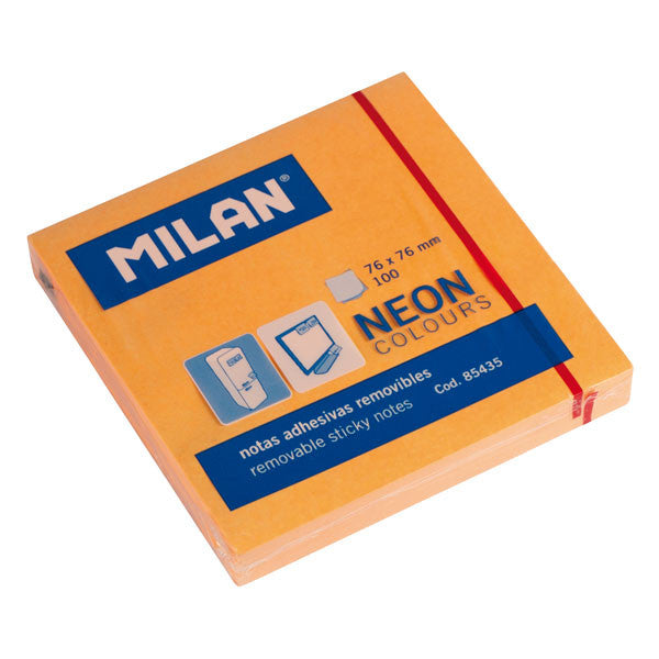 Milan post-it neon 75x75 mm orange