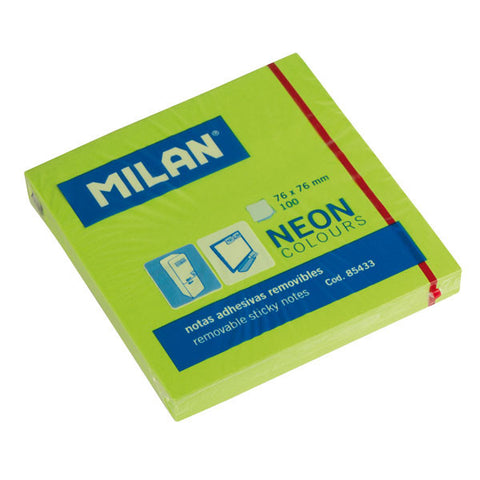 Milan post-it neon 75x75 mm grønn