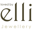 minimalist and simple brand logo of Loved by Elli Jewellery in white and natural colours