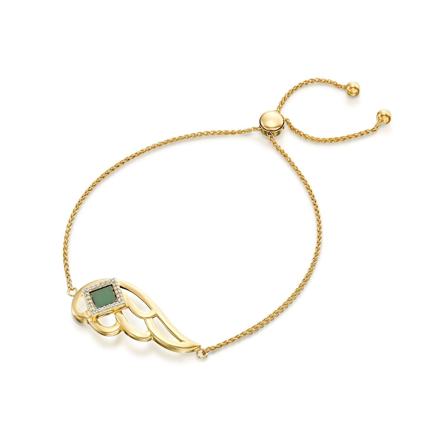 Angel Bracelet with CZ