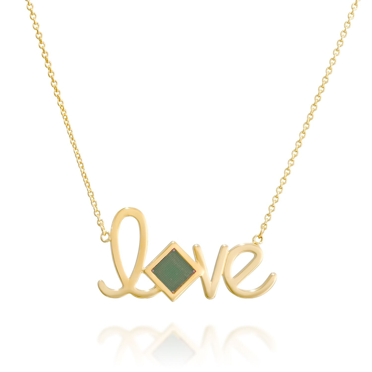 Golden Love Pendant