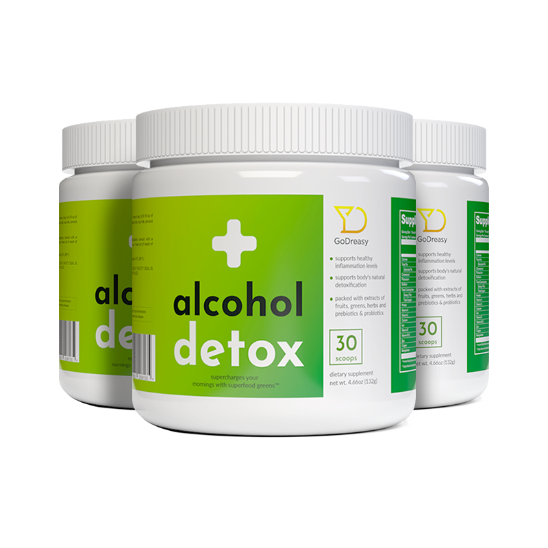 Alcohol Detox Greens - 3 Bottles