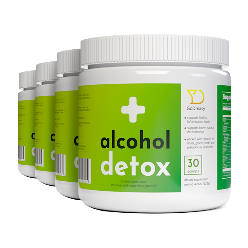 Alcohol Detox Greens - 4 Bottles