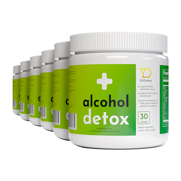 Alcohol Detox Greens - 6 Bottles.