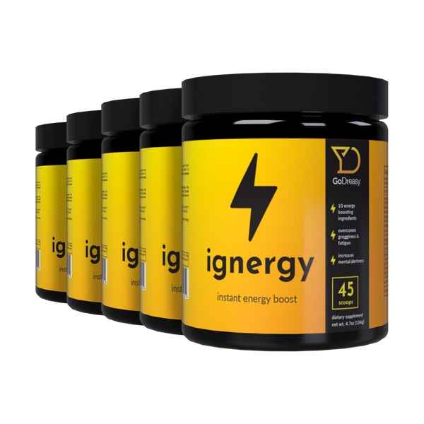 Ignergy, Instant Energy Booster - 5 Bottles