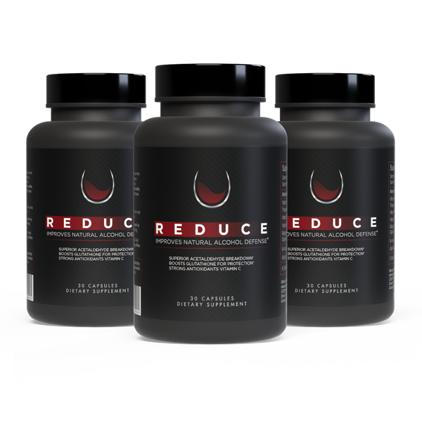 Reduce, Alcohol Defense & Liver Support - 3 Bottles